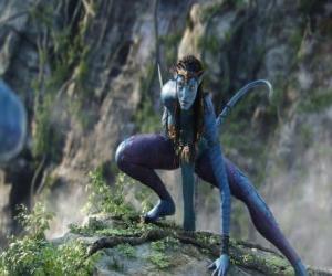 Neytiri, ein na'vi, eine Rasse von Humanoiden vom Planeten Pandora mit einem langen Schwanz puzzle