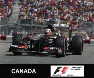 Nico Hülkenberg - Sauber - Circuit Gilles Villeneuve Montreal, 2013 puzzle