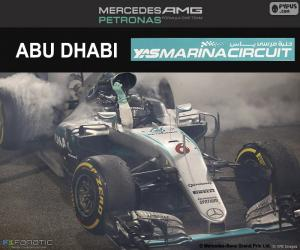Nico Rosberg, GP von Abu Dhabi 2016 puzzle
