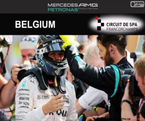 Nico Rosberg, GP von Belgien 2016 puzzle
