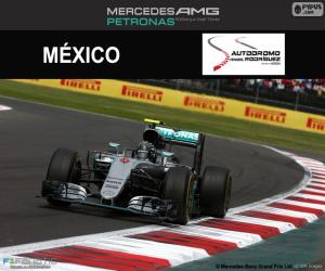 Nico Rosberg, Großer Preis von Mexiko 2016 puzzle