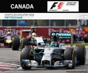 Nico Rosberg - Mercedes - Grand Prix von Kanada 2014, 2 º klassifiziert puzzle
