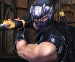 Ninja Krieger mit Schwert in der Hand puzzle