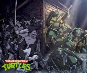 Ninja Turtles in Aktion puzzle