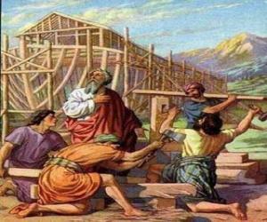 Noah seine arche, von der universal-flut um die wahl  puzzle