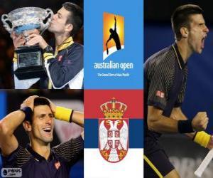 Novak Djokovic Open Champion Australien 2013 puzzle
