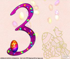 Nummer drei des Osterfestes puzzle