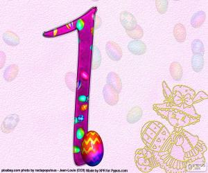 Nummer eins des Osterfestes puzzle