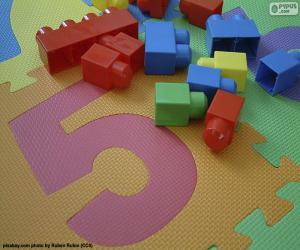 Nummer fünf puzzle