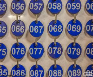 Nummerierte Platten puzzle