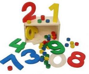 Nummers aus holz puzzle