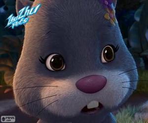 NumNums, den Hamster mit einem Kopfschmuck aus Blumen in den Kopf puzzle