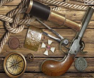 Objekte aus einem alten Explorer puzzle
