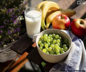 Obst und Milch puzzle