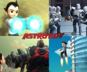 Oder Astro Boy AstroBoy, kämpfen seine Feinde puzzle