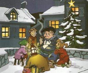 Olentzero ist ein Charakter, der bringt Geschenke am Weihnachtstag im Baskenland und Navarra puzzle