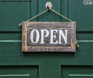 Open, Öffnen puzzle