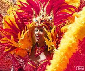 Orange Karneval Kleid puzzle