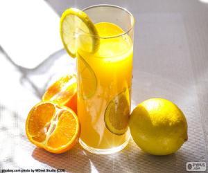 Orangensaft und Zitronensaft puzzle