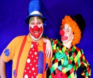 Paar von clowns puzzle