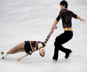 Paarlaufen ist eine Disziplin der Eiskunstlauf puzzle