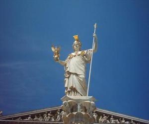 Pallas Athene, in der griechischen mythologie göttin der weisheit, strategie und gerechten krieg puzzle