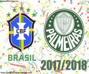 Palmeiras, brasilianische Meister 2018 puzzle