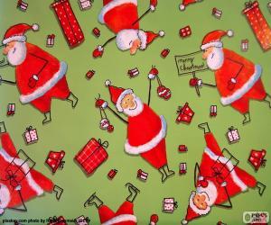 Papier von Weihnachtsmann puzzle