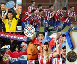 Paraguay, 2. Platz 2011 Copa America puzzle