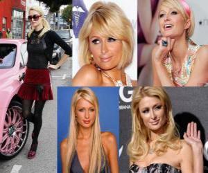 Paris Hilton ist eine Persönlichkeit, Autorin, Model, Schauspielerin, Designerin und Sängerin. puzzle
