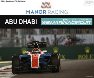 Pascal Wehrlein, GP von Abu Dhabi 2016 puzzle
