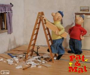 Pat und Mat Arbeit puzzle