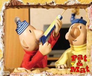 Pat und Mat arbeiten puzzle