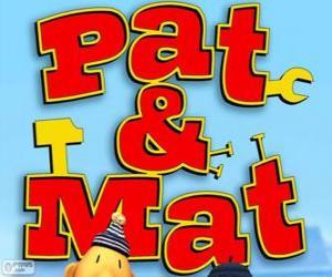 Pat und Mat Logo puzzle