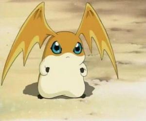 Patamon ist der Digimon-Partner der TK ist eine der Digimon Potomon und Tokomon puzzle