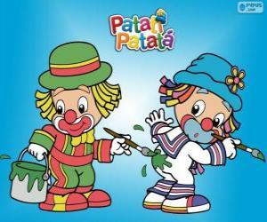 Patati Patatá Clowns, zwei Maler puzzle