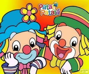 Patati und Patatá, die zwei Clowns sind gute Freunde puzzle