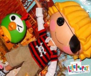Patch Treasurechest von Lalaloopsy mit seinem Haustier, einen Papagei puzzle
