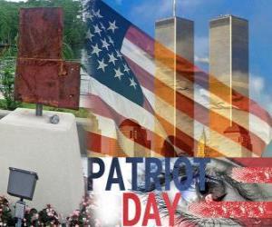 Patriot Day, 11. September in den Vereinigten Staaten, in Erinnerung an die Anschläge vom 11. September 2001 puzzle