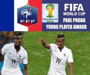 Paul Pogba, junger Spieler Auszeichnung. Brasilien 2014 FIFA Fußball-Weltmeisterschaft puzzle