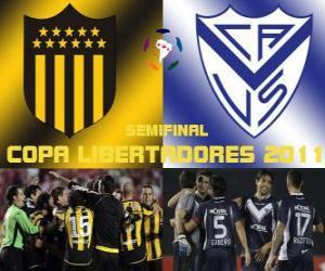 Peñarol Montevideo - Velez Sarsfield. Halbfinale der Copa Libertadores 2011 puzzle
