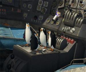 Penguins repariert ein altes flugzeug abgestürzt puzzle