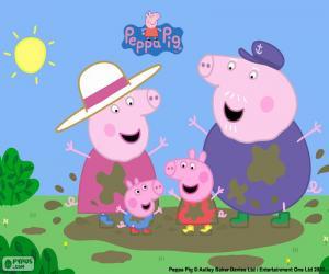 Peppa Pig bei seinen Großeltern puzzle