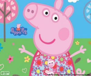Peppa Pig Blumen Kleid puzzle