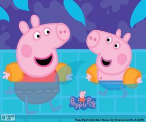 Peppa Pig geht schwimmen puzzle