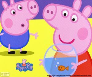 Peppa Pig-Maskottchen puzzle