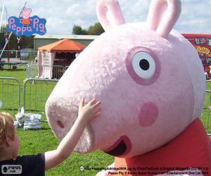 Peppa Pig mit einem Kind puzzle