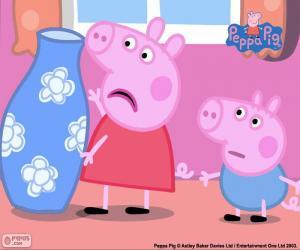 Peppa Pig und die blaue vase puzzle