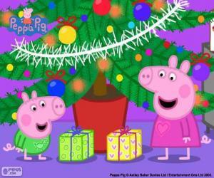 Peppa Pig und George Weihnachten puzzle