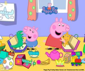 Peppa Pig und George puzzle